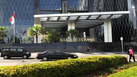 The high-rise Bakrie Tower, which houses the headquarters of Bumi Resources, owned by the Bakrie family in Jakarta