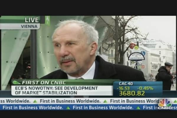 ECB's Nowotny: Don't Overplay German GDP