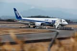 787 Dreamliner aircraft operated by All Nippon Airways Co. (ANA) stands on the tarmac after making an emergency landing in Takamatsu, Japan.