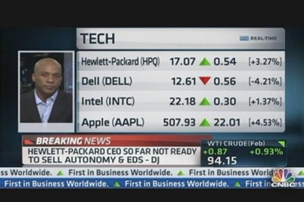 Hewlett-Packard CEO So Far Not Ready to Sell Autonomy & EDS: DJ
