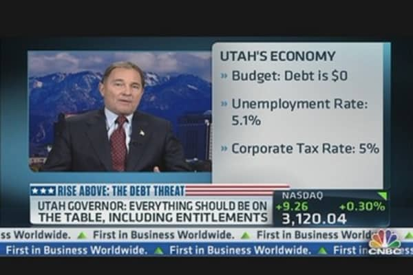 Gov. Herbert Addresses Debt Ceiling Debate