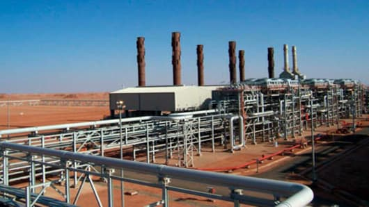 The Amenas natural gas field in the eastern central region of Algeria, where Islamist militants raided and took hostages on January 16, 2013