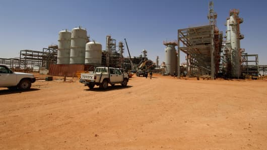The In Amenas Gas Plant facility, Algeria