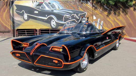 The Batmobile from the original Batman television series.