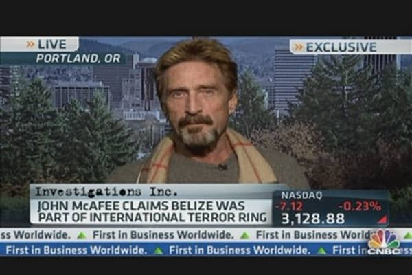 Latest Twist in McAfee Tale From His Own Lips