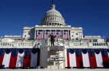 The Capitol Building in Washington D.C. on January 20, 2013 in preparation for President Barack Obama&#039;s Inauguration.