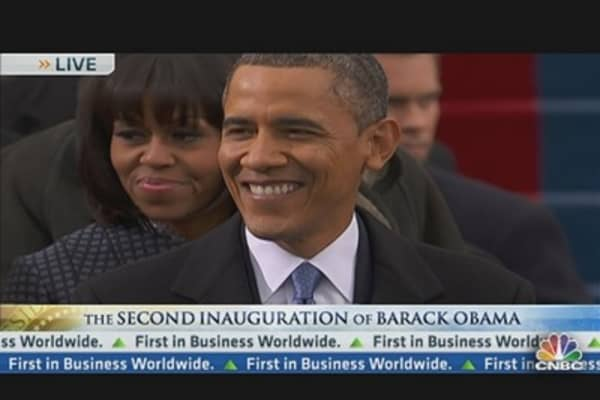 Presidnet Obama's Second Inauguration Kicks Off