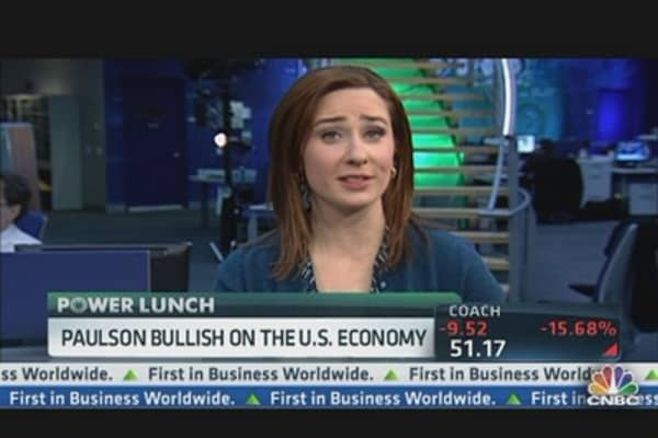 Paulson Bullish on the US Economy