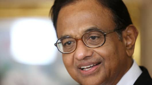 P. Chidambaram, India's Finance Minister