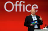Microsoft Corp CEO Steve Ballmer speaks during a keynote address at the 2013 International CES at The Venetian on January 7, 2013 in Las Vegas, Nevada.