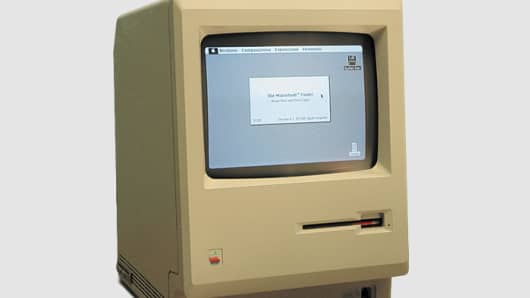 The original Macintosh, released in January 1984.