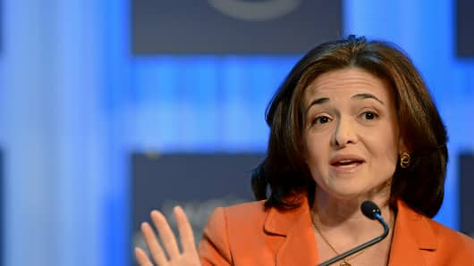 Sheryl Sandberg at the World Economic Forum in Davos, Switzerland.