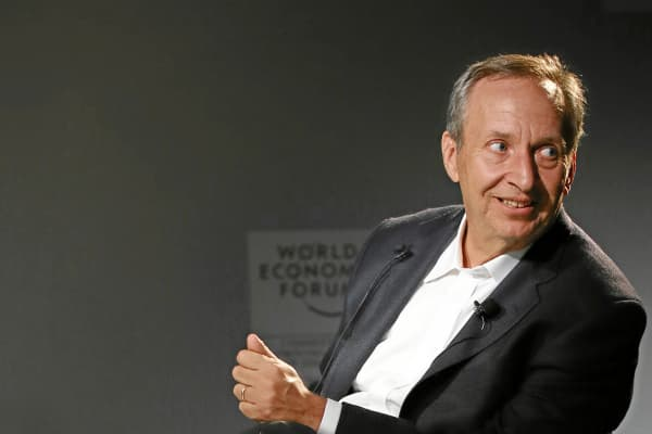 Lawrence Summers at the World Economic Forum in Davos, Switzerland.
