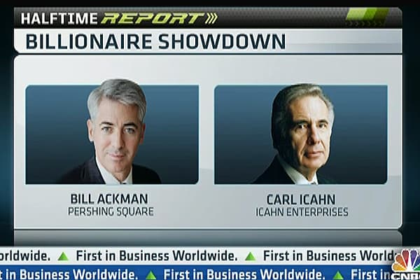 It's Personal! Ackman vs Icahn, Live on CNBC
