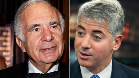 Carl Icahn (L), Bill Ackman (R)