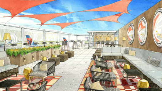 "Delta Air lines new ""Sky Deck"" coming soon to JFK and Atlanta."
