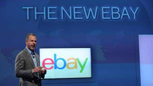 Ebay President Devin Wenig introducing the new eBay- a personal, global and mobile marketplace last October in New York City.