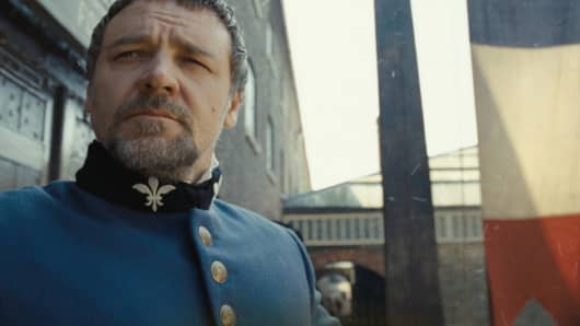 Russell Crowe in Les Miserables.