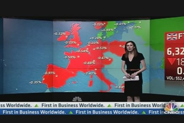 Europe Shares Close Lower After US GDP Disappoints