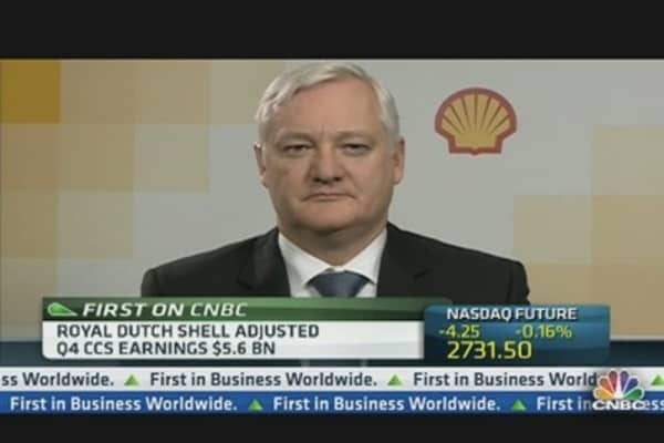 Shell Fourth Quarter Profit Up 13%