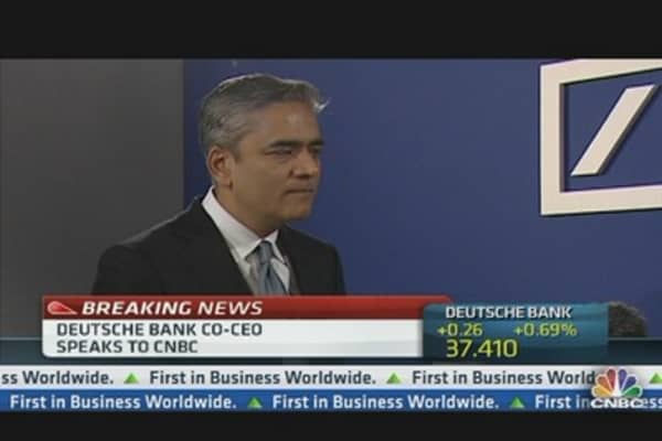 Deutsche Bank co-CEO: Enormous Progress on Capital Ratio