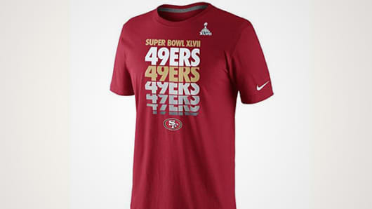 Official Nike 49ers Super Bowl jersey
