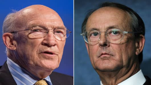 Alan Simpson (l.) and Erskine Bowles