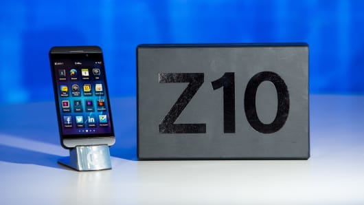 BlackBerry introduces its new smartphone, Z10.