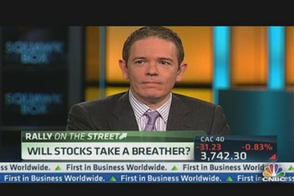 Will Stocks Take a Breather Today?
