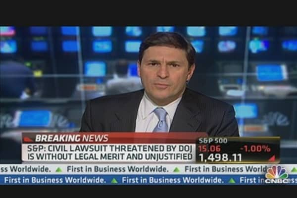 S&P: Civil Lawsuit Threatened by DOJ Unjustified