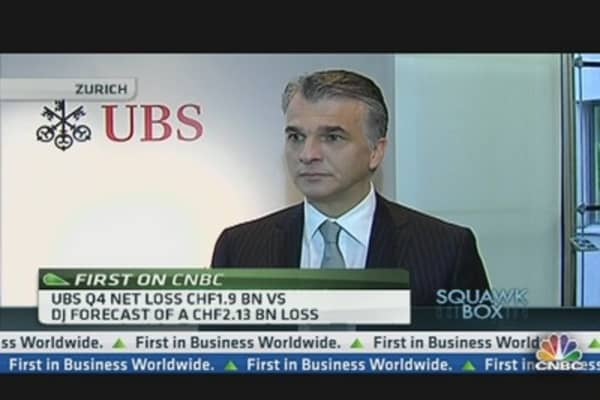 UBS CEO: Risk Appetite Is Extremely Low