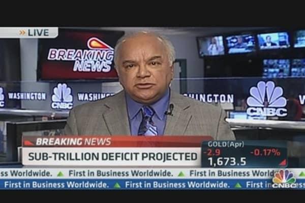 Deficit to Drop Below $1 Trillion