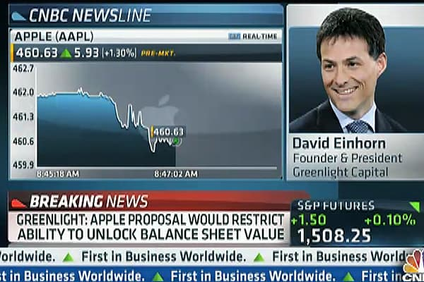 Einhorn: Apple Has 'Depression' Mentality, Hoards Cash