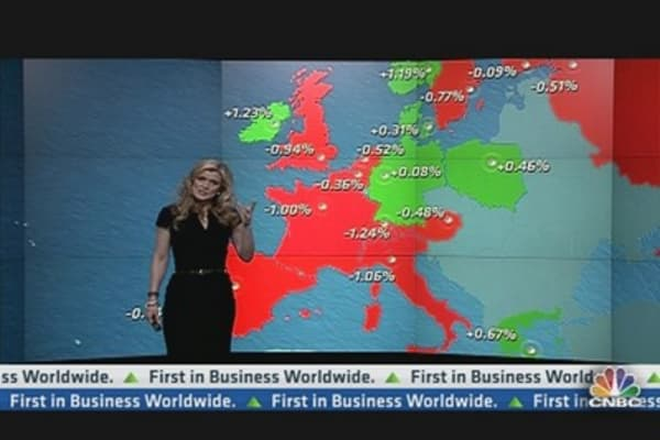 Europe Shares Close Lower After ECB Decision