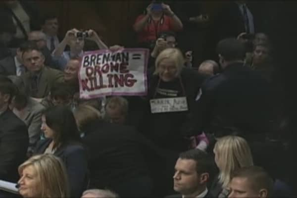 Protesters Halt CIA Nominee Hearing