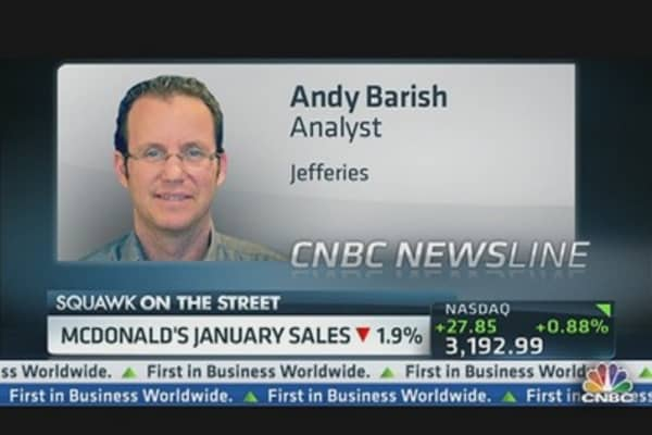 McDonald's Sales Down 1.9% in January