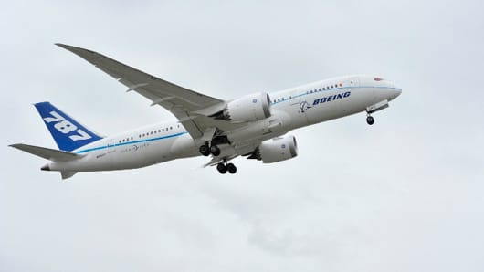 Boeing's 787 on its test flight