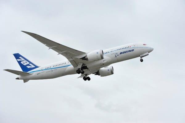 Boeing's 787 on its test flight
