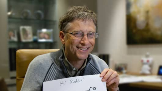 Bill Gates on Reddit.