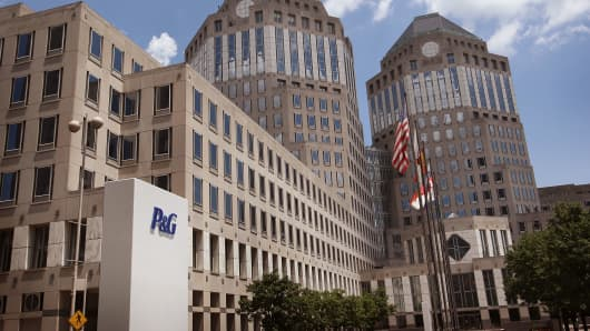 Procter & Gamble corporate headquarters in downtown Cincinnati.