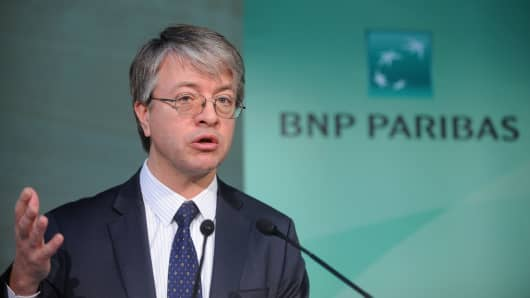 Jean-Laurent Bonnafe, chief executive officer of BNP Paribas