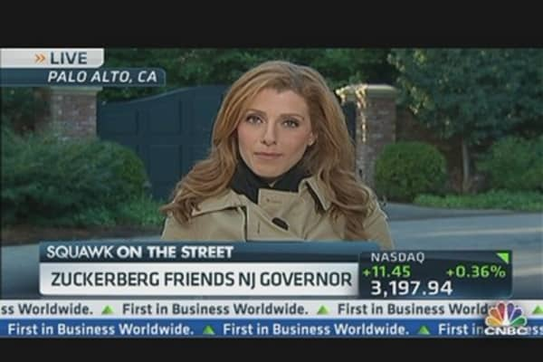 Zuckerberg 'Friends' New Jersey Governor