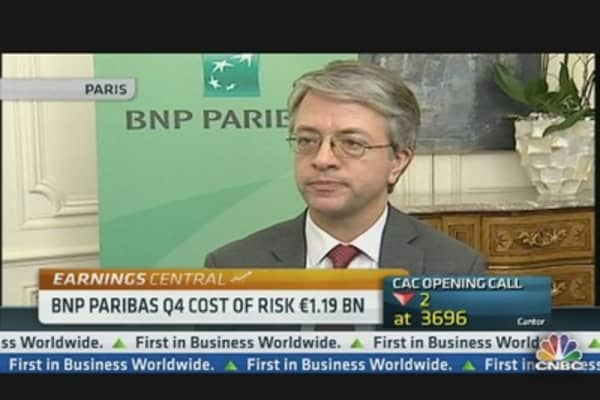 BNP Paribas CEO: Cost of Risk Will Rise in 2013