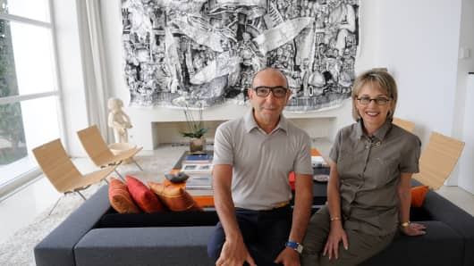 Dani and Mirella Levinas have been collecting contemporary art works for more than 30 years.