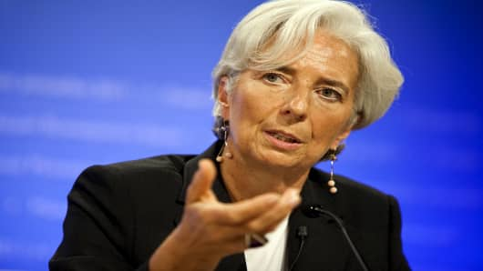 Christine Lagarde, managing director of the International Monetary Fund