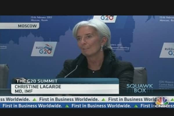 Christine Lagarde: 'Currency Worries', Not 'Currency Wars'