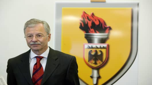 Ulrich Birkenheier, President  of the MAD, the German Military Counter-Intelligence Service.