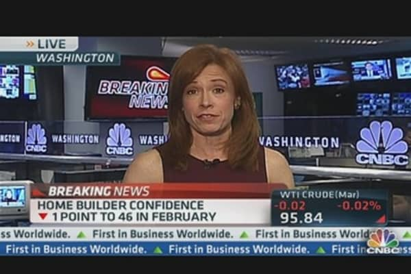 Home Builder Sentiment Down One Point in February
