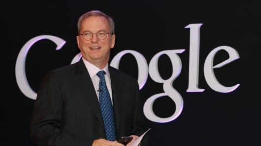 Eric Schmidt, executive chairman of Google Inc.