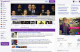 Yahoo's new homepage redesign.